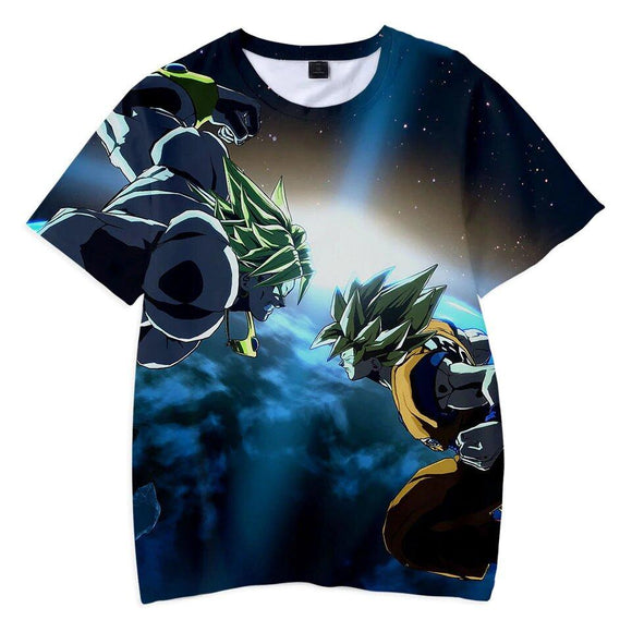 Dragon Ball Z Clash Of Broly & Son Goku SSJ 1 Kids T-Shirt