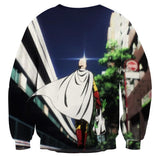One-Punch Man Saitama Going To The Market Cool Design Sweatshirt - Konoha Stuff