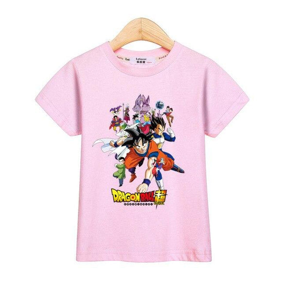 Dragon Ball Super Popular Anime Characters Kids T-Shirt