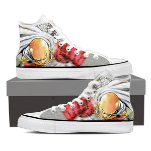 One-Punch Man Saitama Bald Head Dope Design 3D Print Shoes - Konoha Stuff