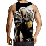 One-Punch Man Fierce Saitama Swag Fashion 3D Print Tank Top - Konoha Stuff