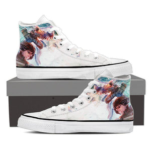 Attack On Titan Eren Shifter And Mikasa Colourful Design Shoes