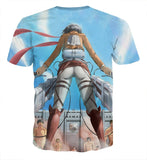 Attack On Titan Mikasa Holding Two Swords Dope Style T-shirt - Konoha Stuff