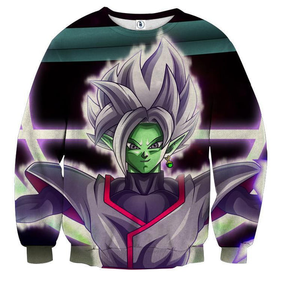 DBZ Goku Black Merged Zamasu Portrait Unique Print Sweatshirt