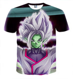 DBZ Goku Black Merged Zamasu Portrait Unique Print T-shirt
