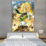 DBZ Gohan Capsule Corp Super Power Dope 1Pc Canvas Print