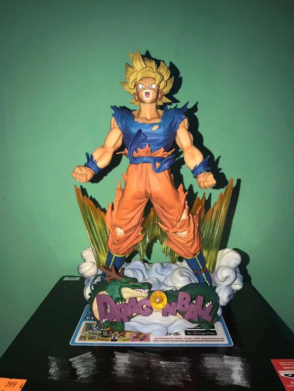DBZ Shouting Son Goku SSJ1 Crystal Aura Action Figure