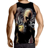 One-Punch Man Badass Saitama Black Theme Full Print Tank Top - Konoha Stuff