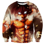 Attack On Titan Eren Founding Titan Led Light Eyes Cool Sweatshirt - Konoha Stuff