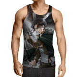 Attack On Titan Captain Levi Cold Look Amazing Style Tank Top - Konoha Stuff