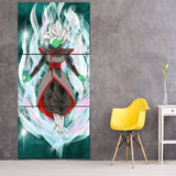 DBZ Goku Black Merged Zamasu Aura Unique 3Pc Canvas Print