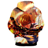 One-Punch Man Handsome Serious Genos Portrait 3D Print Hoodie - Konoha Stuff
