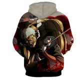Attack On Titan Armored Reiner And Annie Perfect Print Hoodie - Konoha Stuff