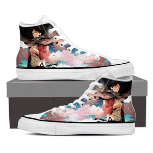 Attack On Titan Lonely Levi Captain Cool Fan Art Shoes
