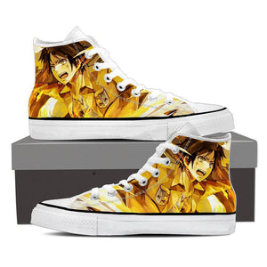Attack On Titan Eren Yeager Cool Fan Art Portrait Shoes
