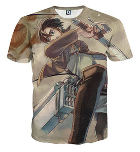 Attack On Titan Eren Yeager Swords Cutting Dope Style T-shirt - Konoha Stuff