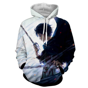 Attack On Titan Lonely Eren Sadness Cool Design Print Hoodie - Konoha Stuff