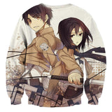 Attack On Titan Eren Mikasa Lovely Couple Vibrant Sweatshirt - Konoha Stuff