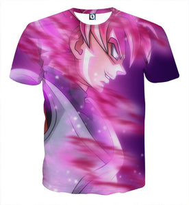 DBZ Goku Black Super Saiyan God Unique Style Fan Art T-shirt