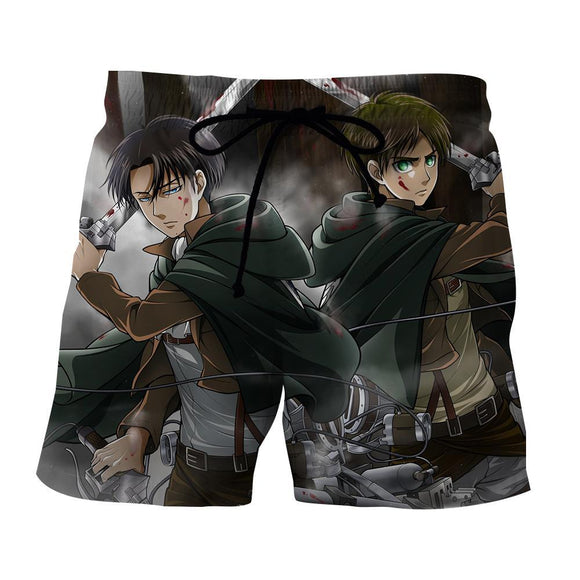 Attack On Titan The Two Eren And Levi Fighting Style Short - Konoha Stuff