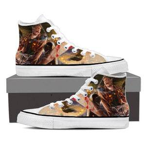 Attack On Titan Aggressive Reiner Braun Yelling Cool Shoes - Konoha Stuff