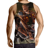 Attack On Titan Aggressive Reiner Braun Yelling Cool Tank Top - Konoha Stuff