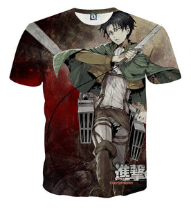 Attack On Titan Captain Levi Dope Style Full Print T-shirt - Konoha Stuff