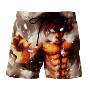 Attack On Titan Eren Founding Titan Led Light Eyes Cool Short - Konoha Stuff