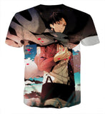 Attack On Titan Lonely Levi Captain Cool Fan Art T-shirt - Konoha Stuff