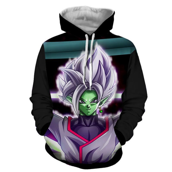 DBZ Goku Black Merged Zamasu Portrait Unique Print Hoodie