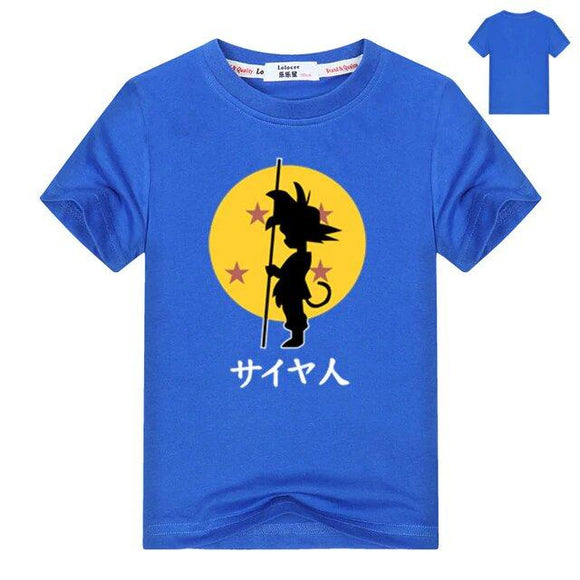 Dragon Ball Z Shadow Kid Goku 4 Stars In A Sun Kids T-Shirt
