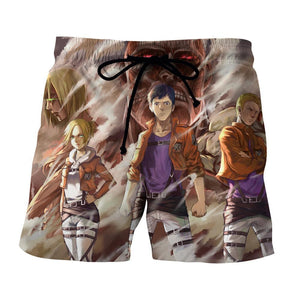 Attack On Titan Eren Annie Reiner The Three Swag Short - Konoha Stuff