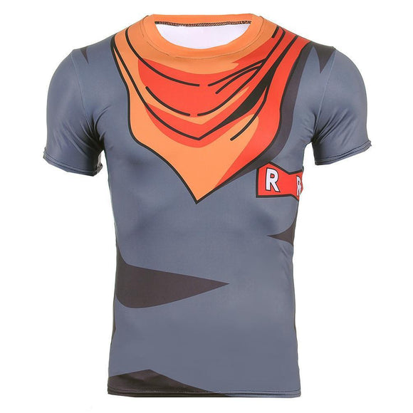 Android 17 DBZ Clothes Fitness Skin Workout Compression 3D T-shirt