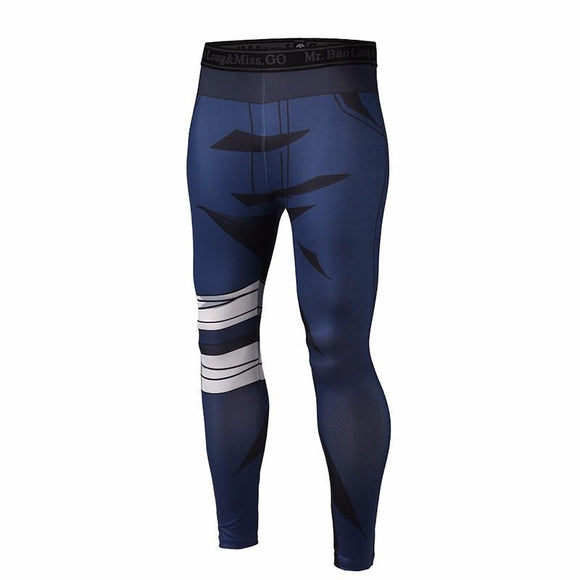 Anime Naruto Kakashi Compression Gym Fitness Skinny 3D Leggings Pants - Konoha Stuff