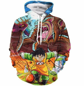 Art Style Gohan Great Ape Colorful DBZ Graffiti Painting Hoodie - Saiyan Stuff