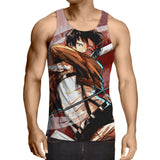 Attack On Titan Captain Levi Sketch Style Portrait Tank Top - Konoha Stuff