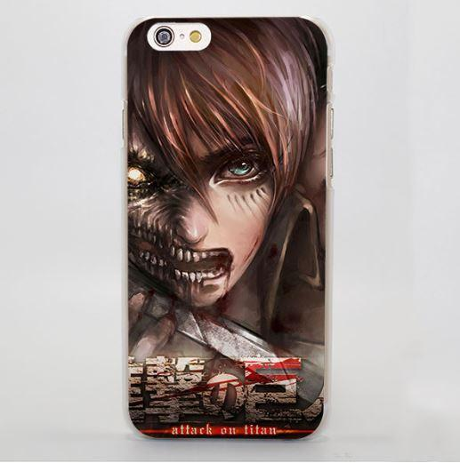 Attack On Titan Eren Titan Kanji Symbols  Cool iPhone 4 5 6 7 Plus Case - Konoha Stuff