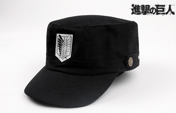 Attack On Titan Shingeki No Kyojin Survey Corps Logo Military Cap Hat - Konoha Stuff