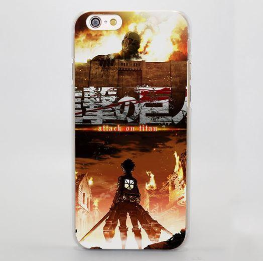 Attack On Titan The Battle Fire Background Style Cool iPhone 4 5 6 7 Plus Case - Konoha Stuff