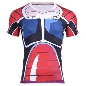Brutal Raditz Frieza's Forces Battle Armor 3D Workout T-Shirt