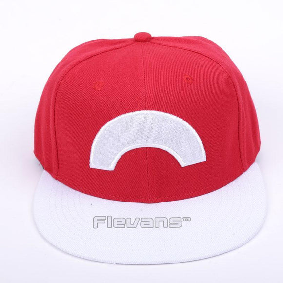 Cartoon Pokemon Cool Amazing Red  White Baseball Hat Cap