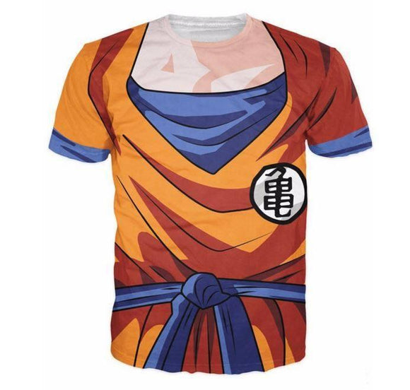 DBZ - Goku Skin Gear Armour 3D T-Shirt - Saiyan Stuff