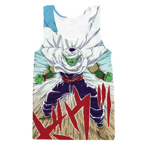 DBZ Anime Piccolo Evil King Anger Release Full Print Cool Design Tank Top