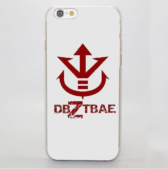 DBZ Bae King Vegeta Symbol Cool Simple Design iPhone 4 5 6 7 Plus Case