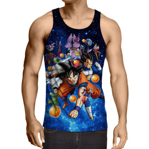DBZ Battle Gods Goku Beerus Vibrant Design Tank Top