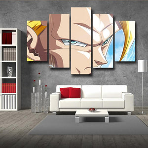 DBZ Gogeta SSJ3 Portrait Epic Style 5pc Wall Art Decor Posters Canvas Prints