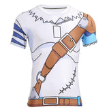 Digimon WereGarurumon Workout Fitness Compression 3D T-Shirt