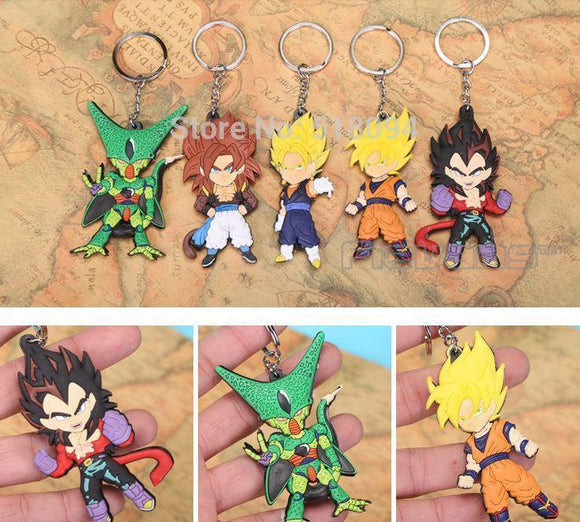 Dragon Ball Z Figures Keychains Pendants 5pcs / Set - Saiyan Stuff