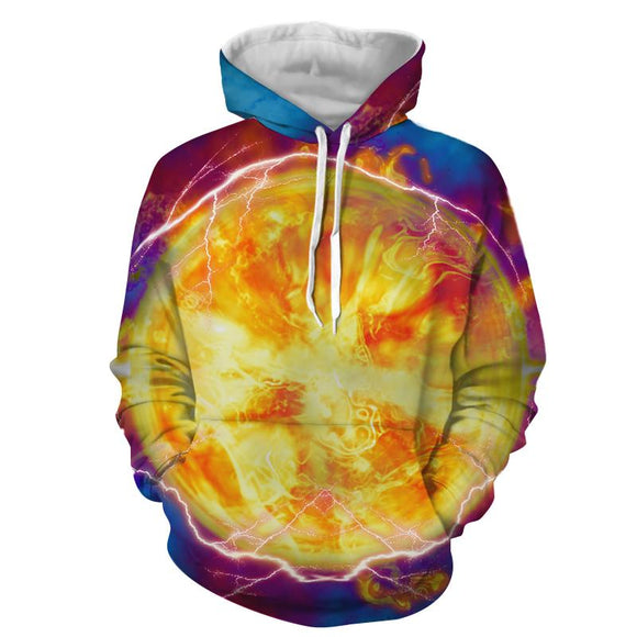 Dragon Ball Z Flaming Power Impact By Jiren The Gray Hoodie