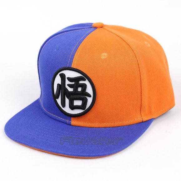 Dragon Ball Z Symbol Bi-Color Blue Orange Fashion Snapback Hat